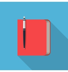 Flat notepad modern web icon vector