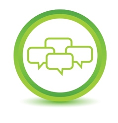 Green dialog icon vector