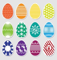 Easter colorful eggs vector