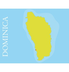Commonwealth of dominica map vector