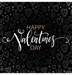 Happy Valentines day cards with hearts pattern vector image