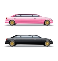 Two limousine icons set vector