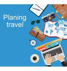 Banner travel planning vector