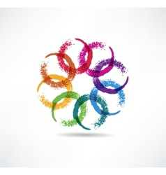 Abstract color icon vector image vector image