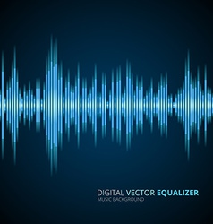 Abstract equalizer background blue vector image vector image
