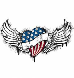 American flying graffiti vector image