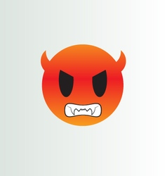 Angry smiley vector image