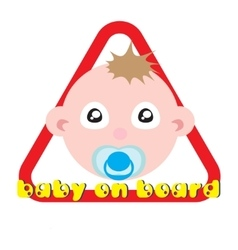 Baby on board sign white background vector image