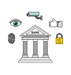 Bank and security design vector