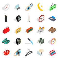 brand name icons set isometric style vector image