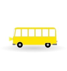 Cartoon cheerful minibus isolated on white vector