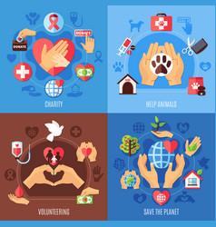 Charity help design concept vector