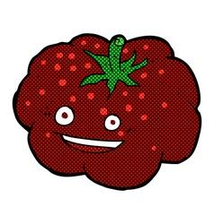 Comic cartoon happy tomato vector