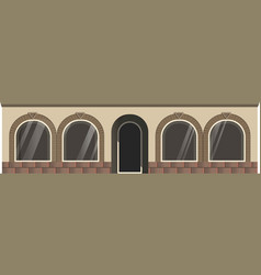 entrance and windows vector image