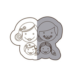 Family together people icon vector