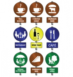 food drink signs vector image