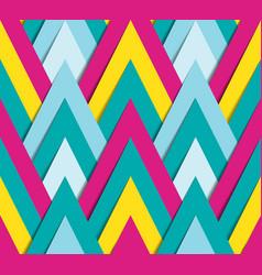 Geometric bright funky pattern vector