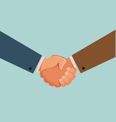 Handshake shaking hands banner agreement vector