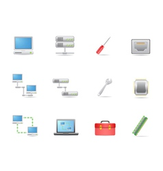 Hardware and connections icon vector image vector image