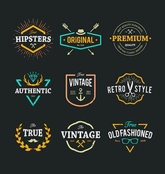 Hipster Emblems 1 vector image vector image