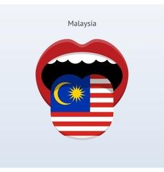Malaysia language abstract human tongue vector