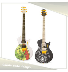 Medical marijuana guitar five vector