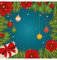 Merry christmas colorful card graphic vector image