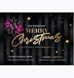 merry christmas invitation design horizontal vector image