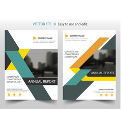 orange green triangle annual report leaflet vector image vector image
