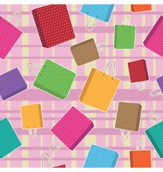 polka dot bags pattern vector image vector image