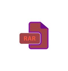Rar icon vector