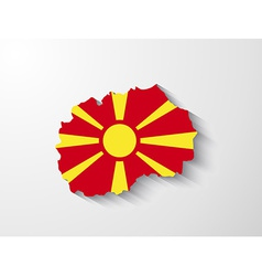 Republic of macedonia map with shadow effect vector