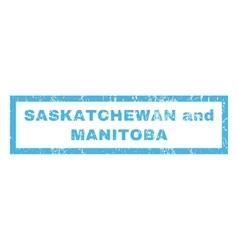 Saskatchewan and manitoba rubber stamp vector