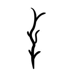 Tree branch autumn icon vector