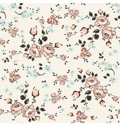 Vintage Floral Background - seamless pattern vector image vector image