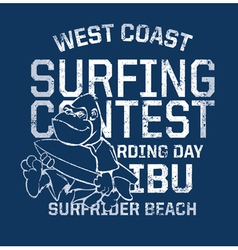 West Coast surfing contest vector image vector image