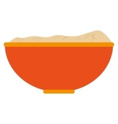 Single bowl icon vector