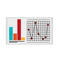 graph chart icon vector image