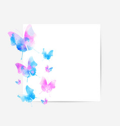 square background with beautiful watercolored vector image