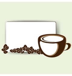 Abstract card with up of coffee or tea vector
