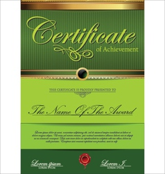 Green certificate template vector