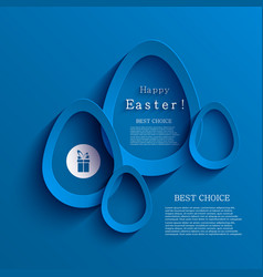 Modern easter egg background eps 10 vector