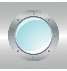 vector realistic metallic porthole vector image