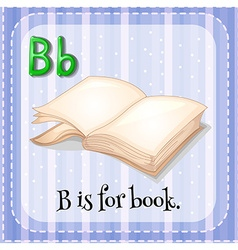 Flashcard b is for book vector