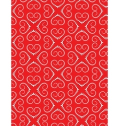 Seamless heart pattern vintage swirl twist vector