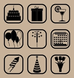 Holiday icons set vector
