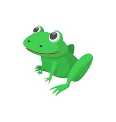 Frog icon cartoon style vector image