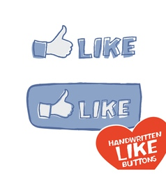 like button mini set vector image