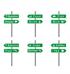 arrows and signs set vector image