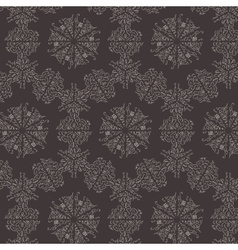 Baroque damask seamless background vector image